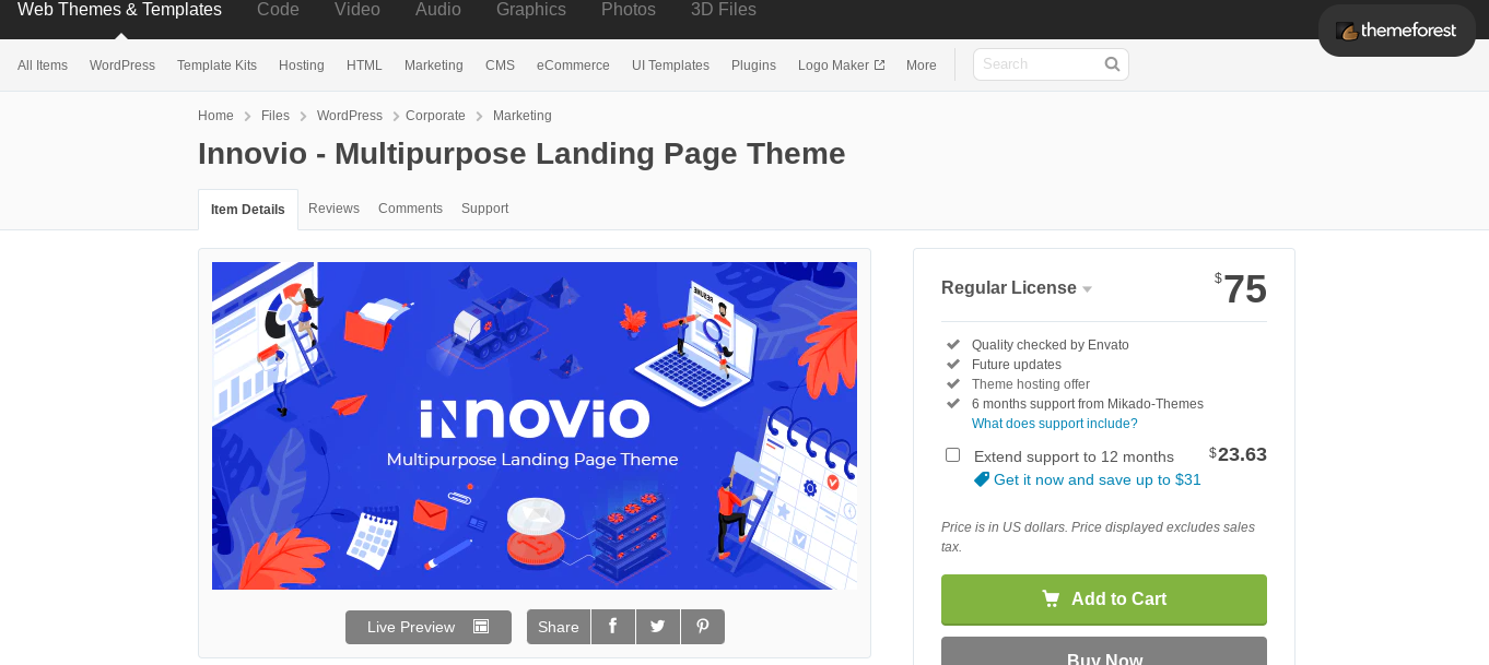 innovio wordpress theme