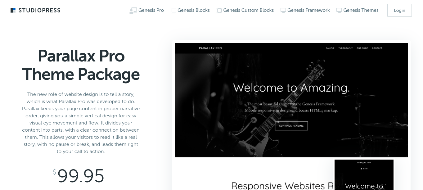 parallax pro wordpress theme
