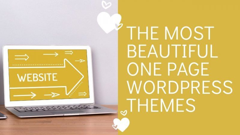 The Most Beautiful One Page Wordpress Themes