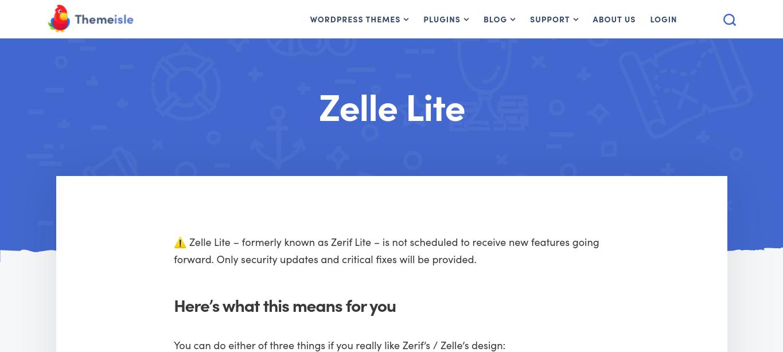Zelle wordpress theme