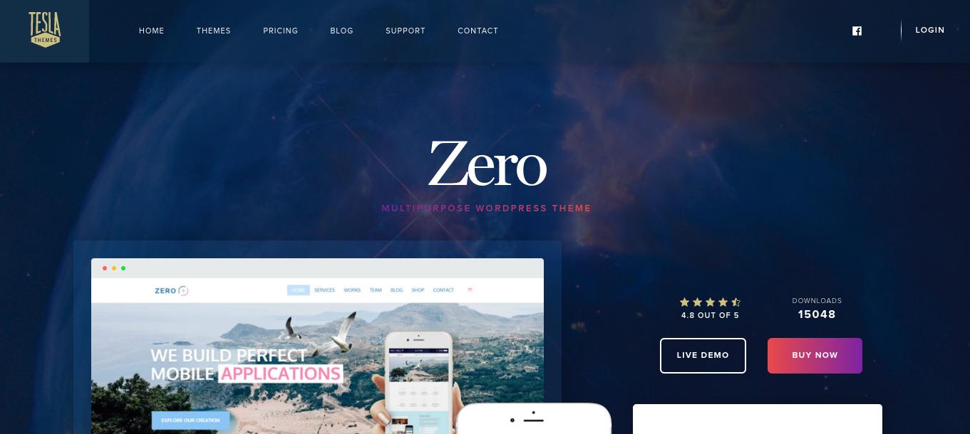 zero wordpress theme