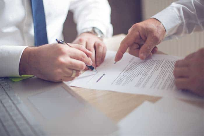 sign on the dotted line, closing the deal