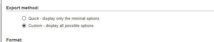 Custom - display all possible options