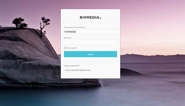 Rivmedia wordpress login