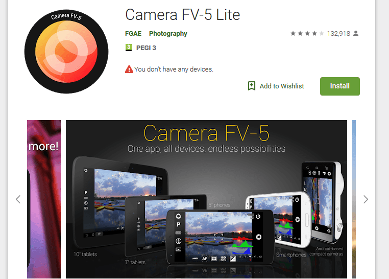 camera FV-5 Android App