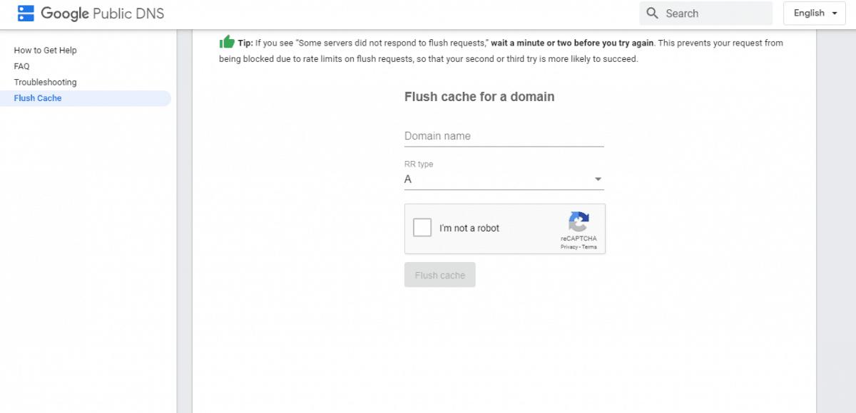 cache flush - google