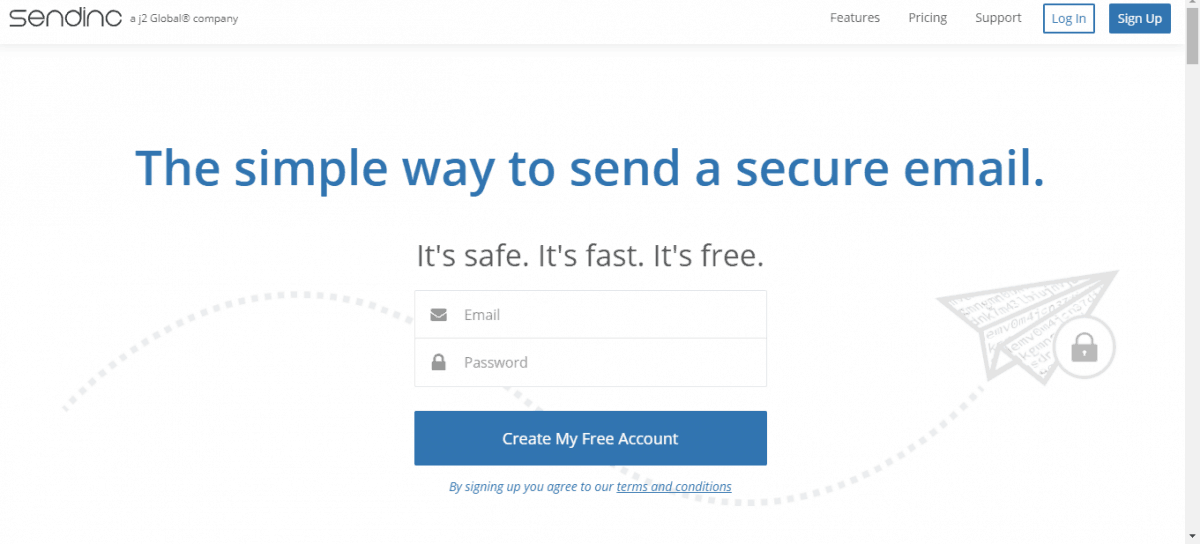 encrypted email sender - sendinc