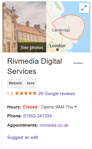 Rivmedia Local Search listing