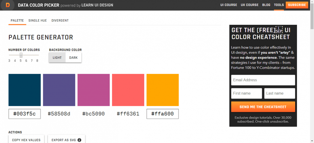 the best html colour picker