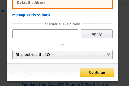 amazon country change option