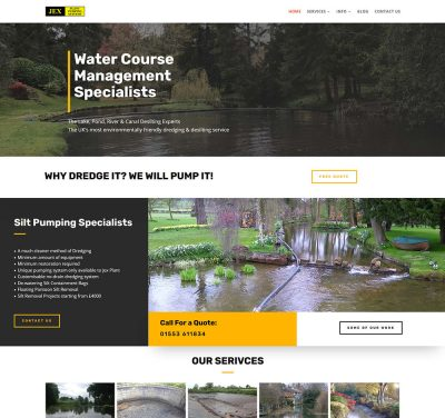 Low cost website design for Dregding contractor