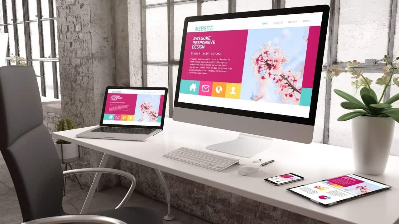 ecommerce website menu