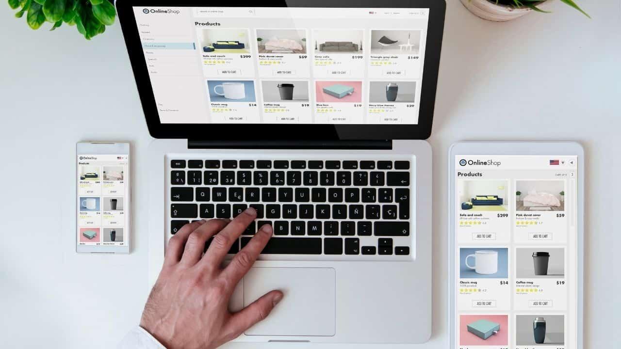 ecommerce website navigation