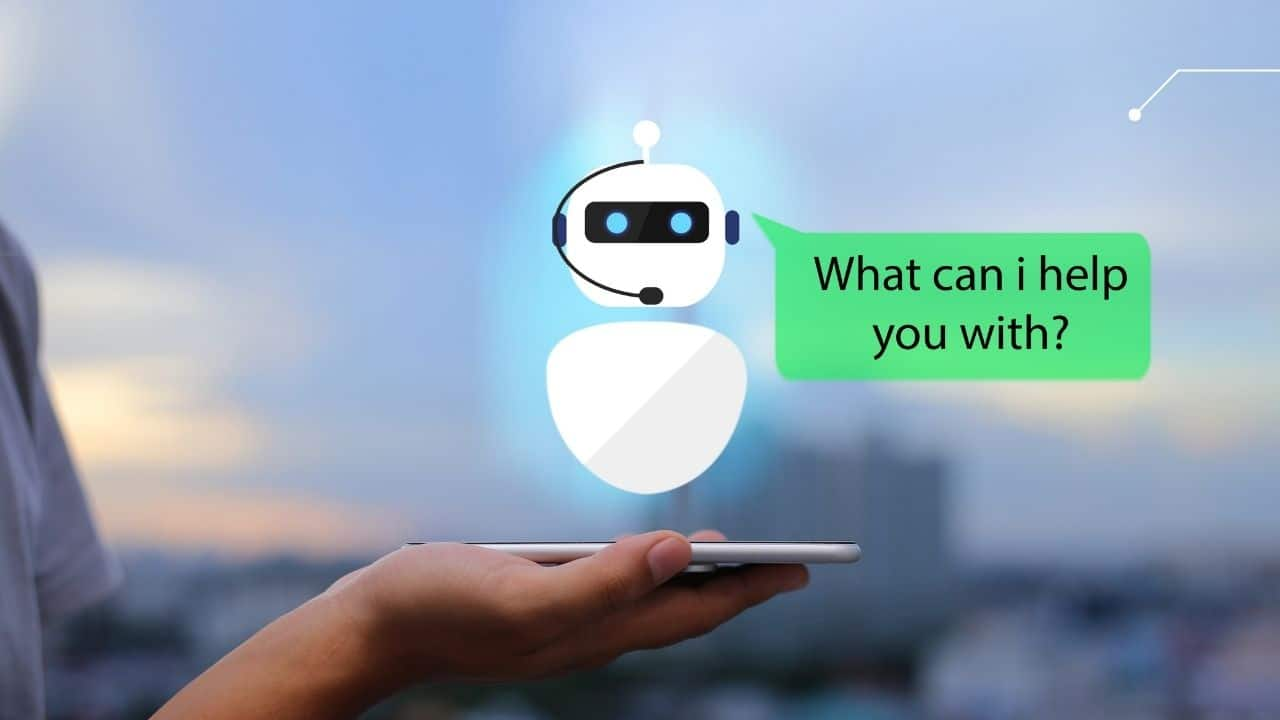 chat bot AI technology for web design